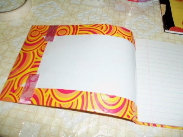 Como encapar caderno para volta às aulas 005