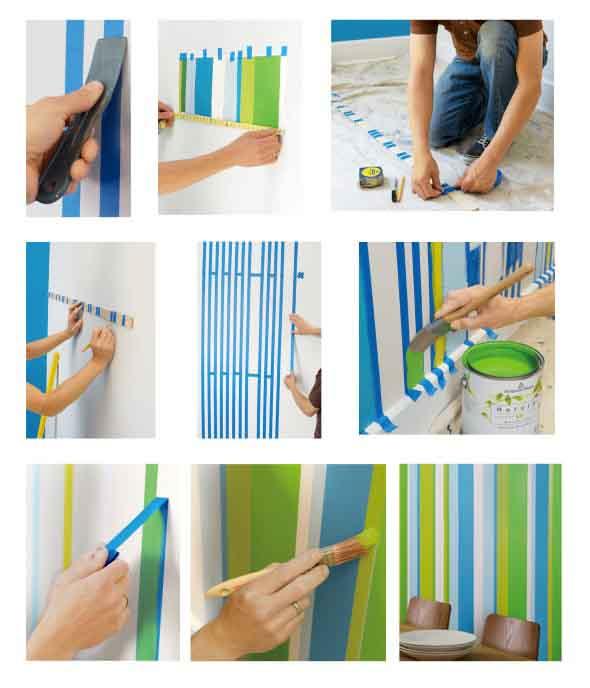 Dicas para pintar listras nas paredes de sua casa 006