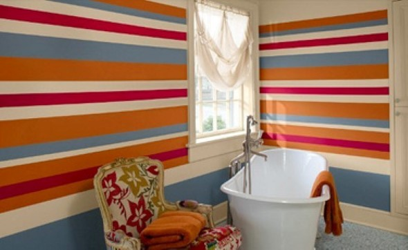 Dicas para pintar listras nas paredes de sua casa 009