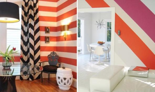 Dicas para pintar listras nas paredes de sua casa 011
