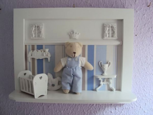 Enfeitar o quarto do bebê com MDF 013