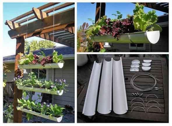 Reciclagem criativa para enfeitar o jardim  008