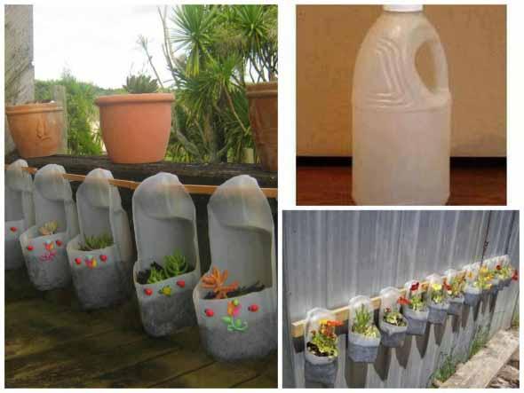 Reciclagem criativa para enfeitar o jardim  009