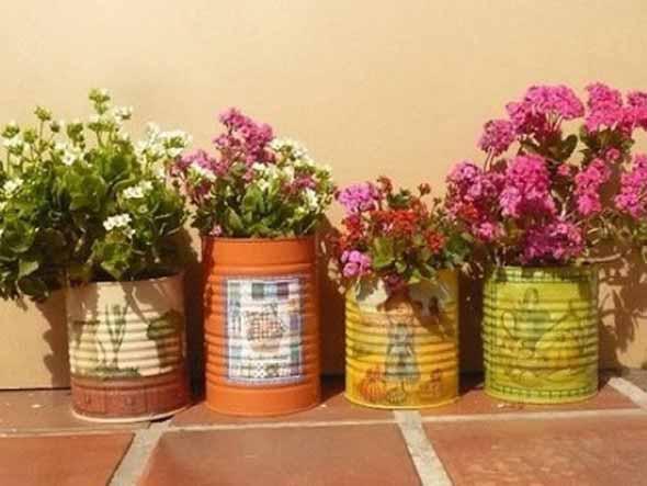 Reciclagem criativa para enfeitar o jardim  012