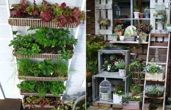Reciclagem criativa para enfeitar o jardim  014