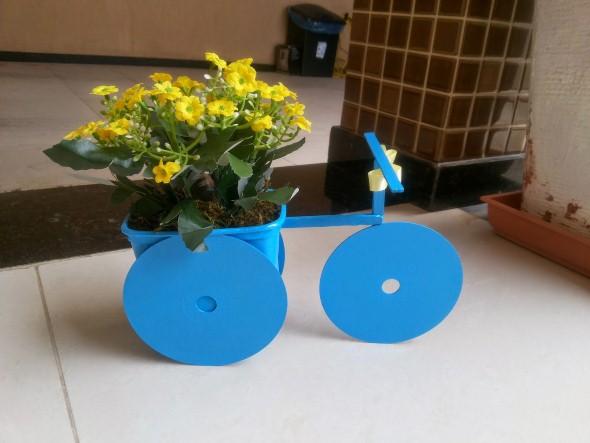 Reciclando potes plásticos 009