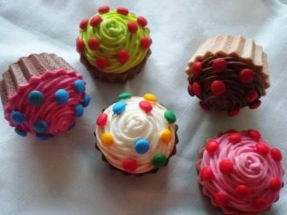 Aprenda a fazer sabonete de cupcake 005