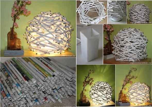 Artesanato com jornal – Dicas e modelos 012