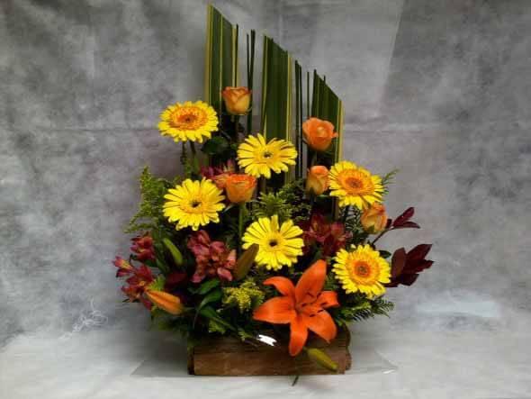 Como fazer arranjo de flores 005
