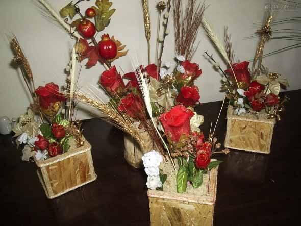Como fazer arranjo de flores 008