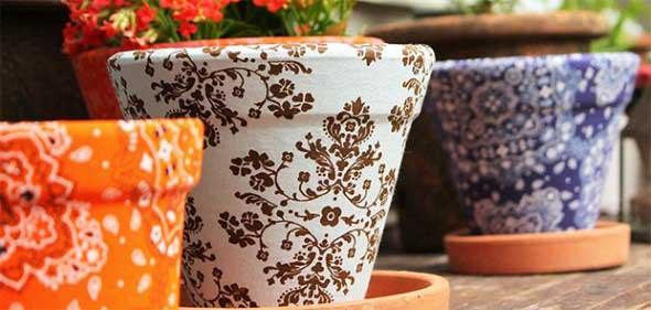 Dicas de artesanato com vasos de barro 004