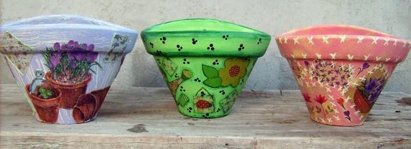 Dicas de artesanato com vasos de barro 010
