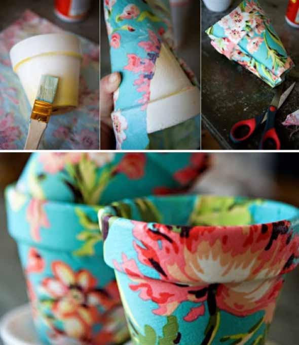 Dicas de artesanato com vasos de barro 011