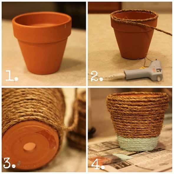 Dicas de artesanato com vasos de barro 015