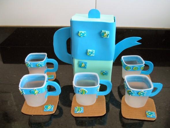 Recicle potes de iogurte em casa 009