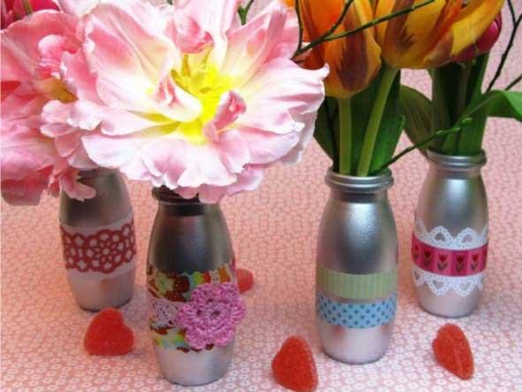 Recicle potes de iogurte em casa 014