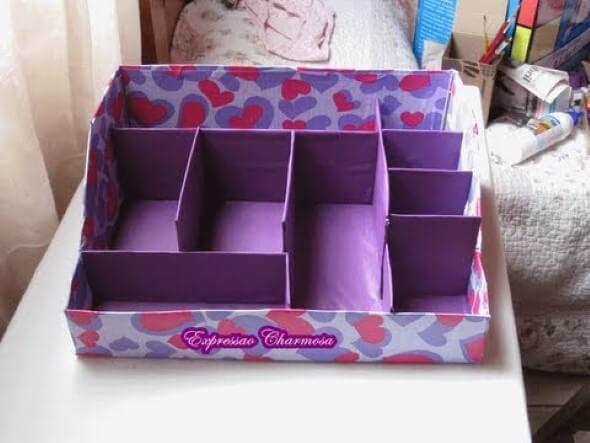 Como fazer uma caixa organizadora 011