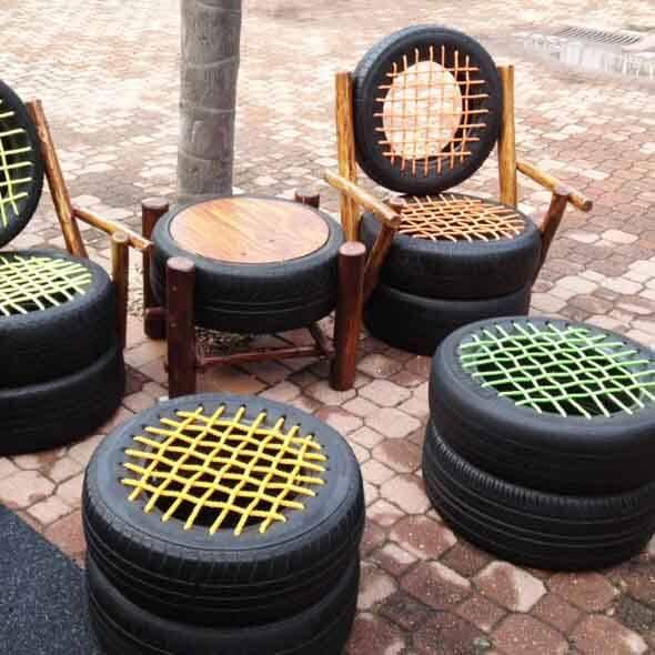 Reciclando pneus usados 001