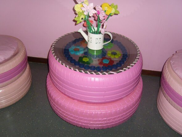 Reciclando pneus usados 010