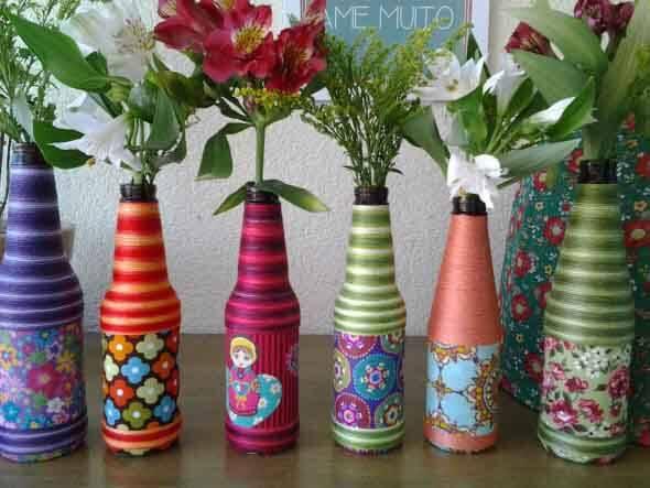 18 Formas criativas de artesanato com garrafas de vidro 003