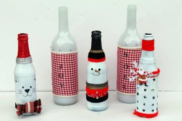 18 Formas criativas de artesanato com garrafas de vidro 014