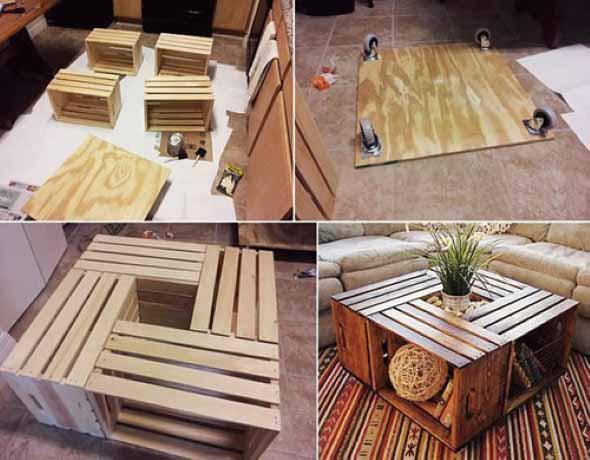 Aprenda a fazer móveis com caixote de feira 007
