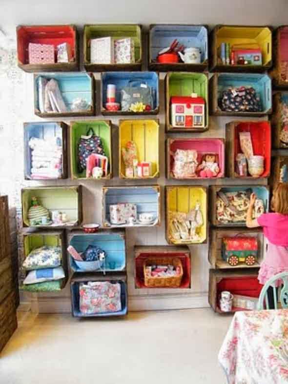 Aprenda a fazer móveis com caixote de feira 014