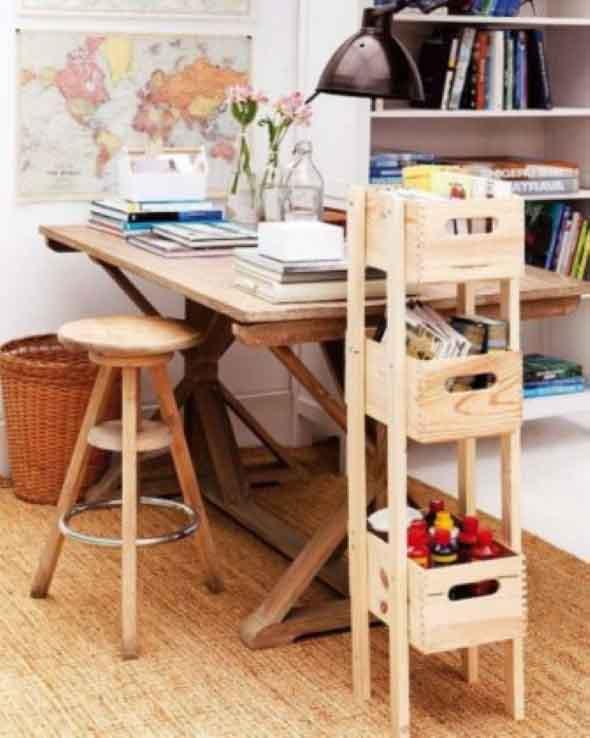 Aprenda a fazer móveis com caixote de feira 016