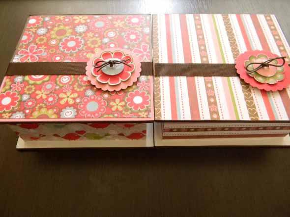 Como decorar caixas MDF com papel 003