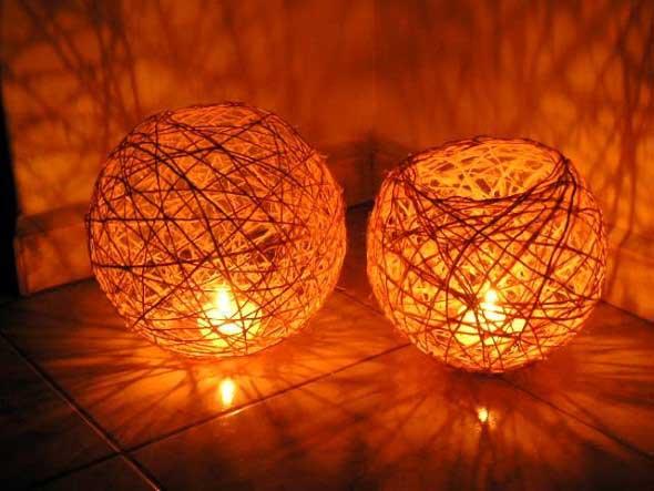Luminária de barbante 004