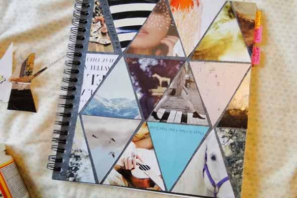 Como decorar seu caderno escolar 011