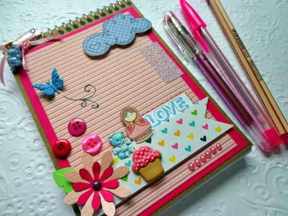 Como decorar seu caderno escolar 012