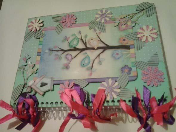 Como decorar seu caderno escolar 013