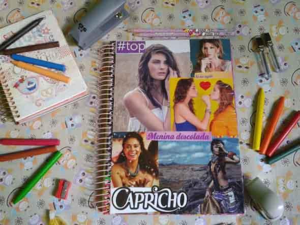 Como decorar seu caderno escolar 014