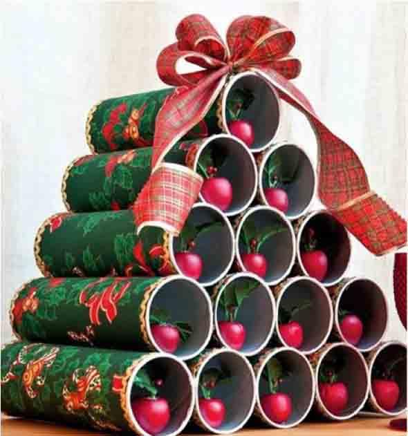Enfeites de Natal com canos de PVC 001