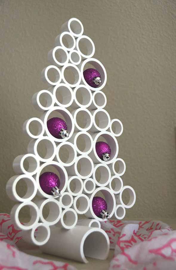 Enfeites de Natal com canos de PVC 002