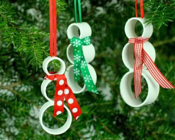 Enfeites de Natal com canos de PVC 007