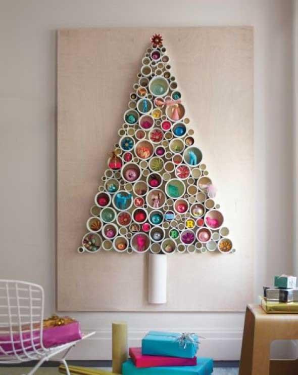 Enfeites de Natal com canos de PVC 008