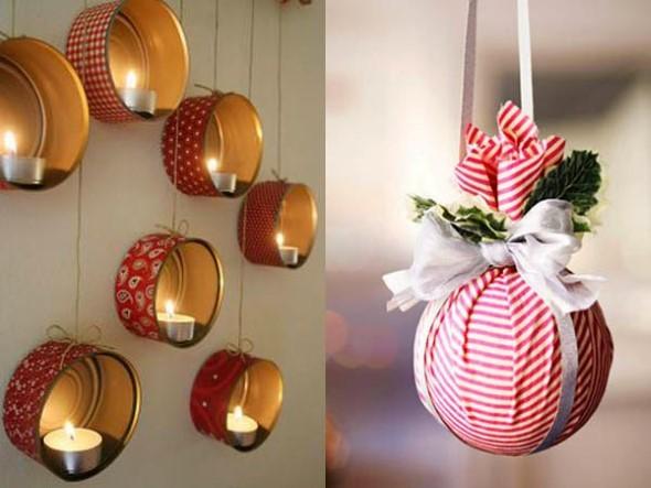 ideias de enfeites de Natal artesanais 005
