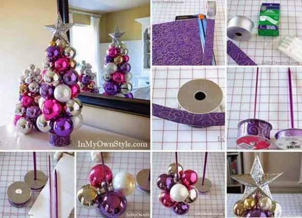 ideias de enfeites de Natal artesanais 007