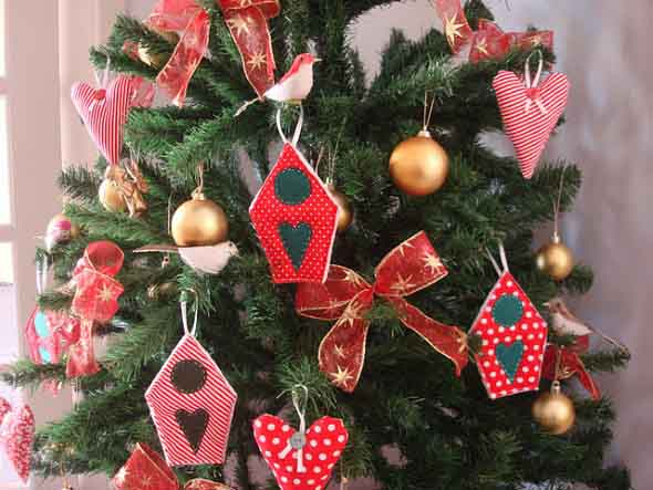 ideias de enfeites de Natal artesanais 014