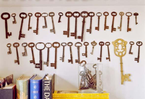 Artesanato com chaves 011
