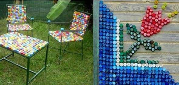 Artesanato com tampinhas de garrafa 015