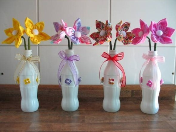 Faça artesanato com garrafas de plástico 001
