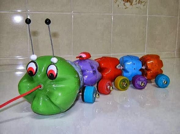 Faça artesanato com garrafas de plástico 012