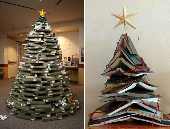 Ideias criativas para montar sua árvore de Natal 002