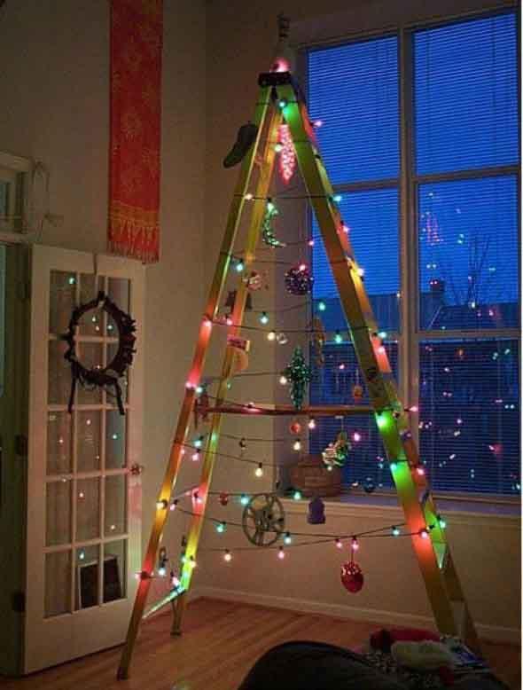 Ideias criativas para montar sua árvore de Natal 004