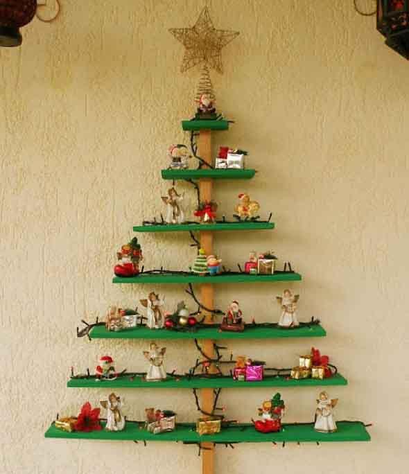 Ideias criativas para montar sua árvore de Natal 012
