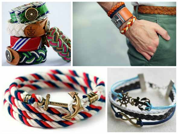 Aprenda a fazer pulseiras navy 009