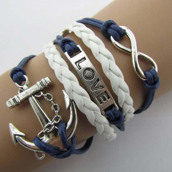 Aprenda a fazer pulseiras navy 012
